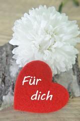 Blume mit Herz für dich