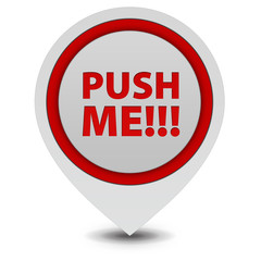 Push me pointer icon on white background