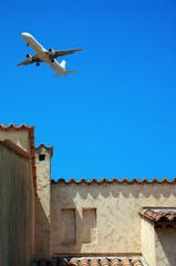 Flugzeug über Südeuropa