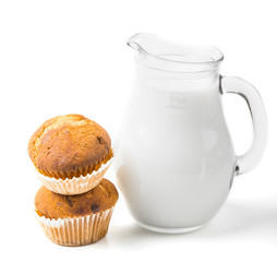 Milk with cake