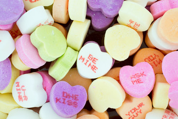 Colorful Valentine Candies with Text