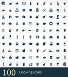 100 cooking icons poster