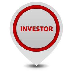 Investor pointer icon on white background