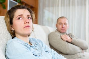 couple having quarrel at home
