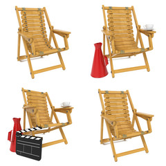 Set of Wooden Chair for Director.