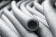 Leinwanddruck Bild - Insulation for pipes closeup