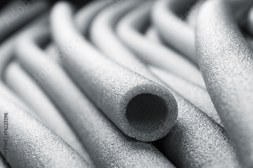 Insulation for pipes closeup - 76223396