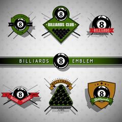 Billiards emblems - color