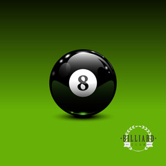 8 ball billiard background