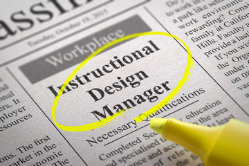 Instructional Design Manager Jobs in Newspaper.