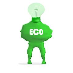 uomo lampadina verde