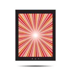 Tablet with retro splash