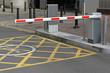 Leinwanddruck Bild - Car park barrier
