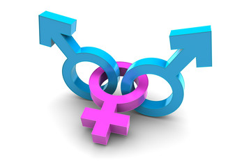 Two Male and Female gender symbol