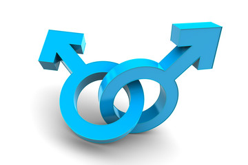 Male and Male gender symbol