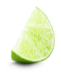 lime slice isolated on white background