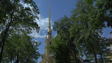Peter and Paul fortress in St. Petersburg.4K.