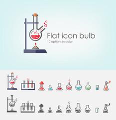 Flat icon bulb