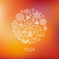 Vector yoga logo