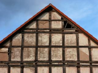 Scheune in Fachwerkbauweise in Schönstadt in Nordhessen