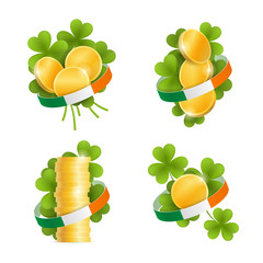 Set of decorative elements for Saint Patrick's Day