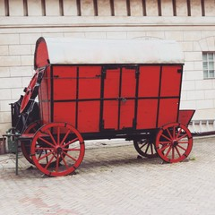 Red retro carriage