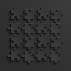 Vector modern black puzzle background