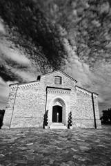 Cloudy skies on Rural Church