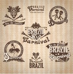 Brazilian Carnival. Big set of Brazilian templates