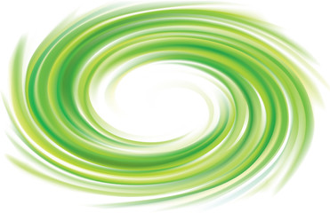 Vector swirling backdrop green color