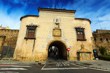 Old city gate at  Plasencia