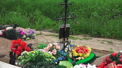 Orthodox Christian cemetery. 4K.