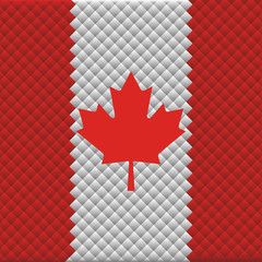 Flag of Canada from the rhombs background