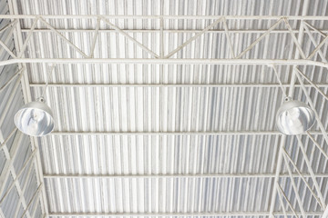 aluminum ceiling lamp with storehouse roof