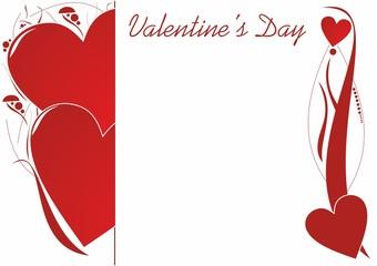 Walentynkowa kartka z dekoracjami