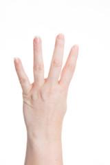 handzeichen - vier