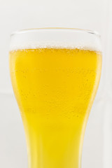 Beer glass isolated on white background.