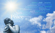 Buddha Meditating with Words of Wisdom - 76228930