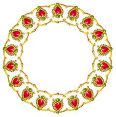 Round jewellery frame