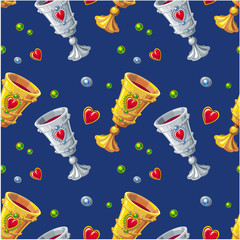seamless pattern with goblets