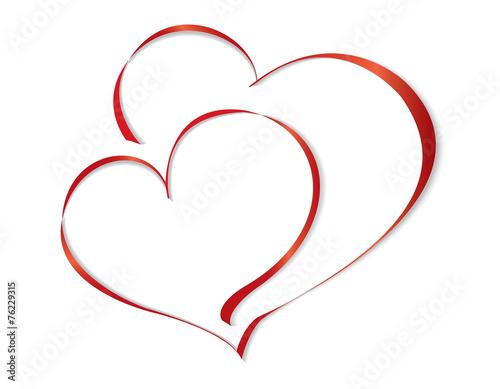 Zdjęcia na płótnie, fototapety, obrazy : Two lovers heart. Vector illustration