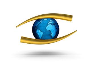 logo a forma di occhio - ottico - oculista