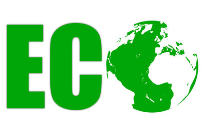 Green logo for ecology and healthy life