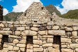 Intricately crafted stonework at Machu Picchu, Peru poster