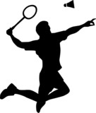 Badminton Player Silhouette