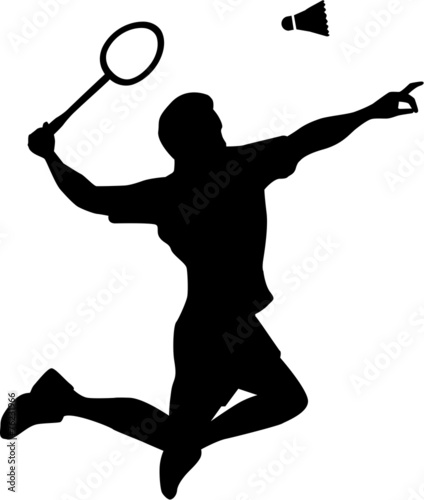 Badminton Player Silhouette - 76231966