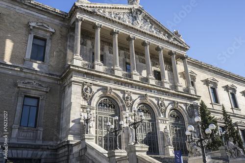 Zdjęcia na płótnie, fototapety, obrazy : National Library of Madrid, Spain. architecture and art
