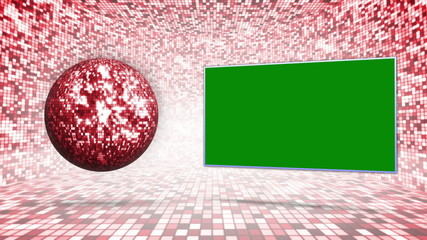 Disco Ball and Green Screen Monitor, Background