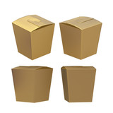 Golden taper square butterfly buckle biscuit box with clipping p poster
