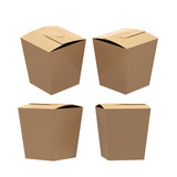 Brown paper taper square butterfly buckle biscuit box with clipp poster